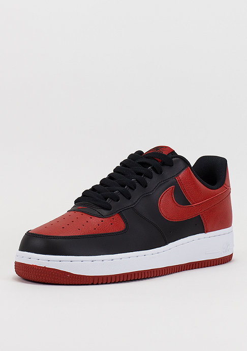 NIKE Basektballschuh Air Force 1 black/gym red/white