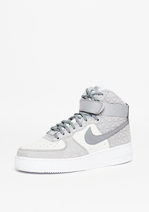 NIKE Schuh Wmns Air Force 1 Hi PRM Suede matte silver/clear grey