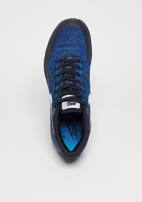 NIKE Schuh Wmns Air Max 1 Ultra Flyknit dark obsidian/white/racer blue
