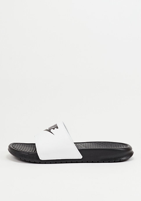 NIKE Badeschlappe Benassi Just Do It Mismatch black/white