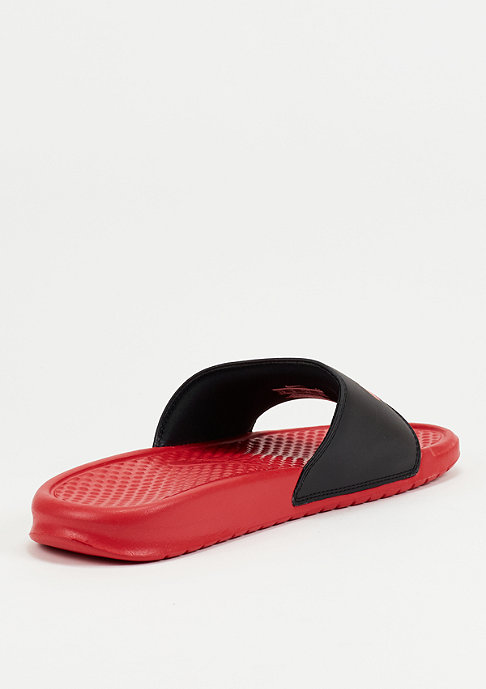 NIKE Badeschlappe Benassi Just Do It Mismatch university red/black