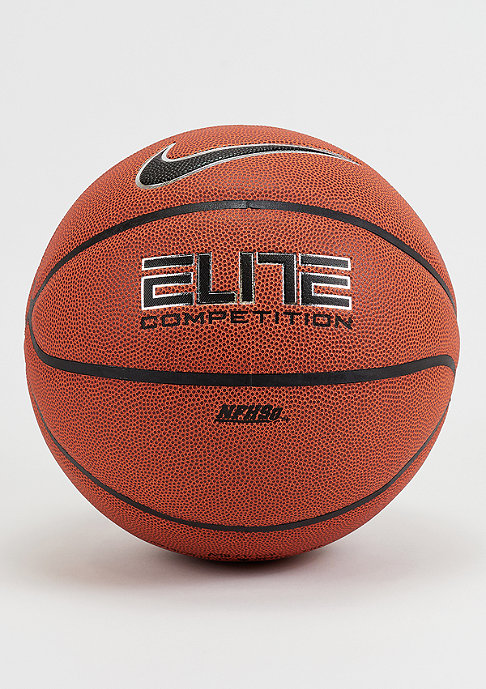 NIKE Basketball Elite Competition 8-Panel Amber Black Platinum