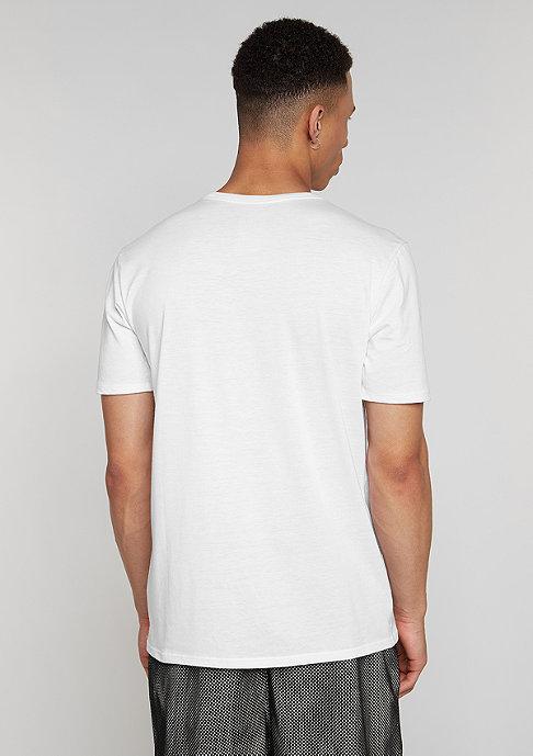 NIKE T-Shirt Futura Mesh Panel Print white/white/white