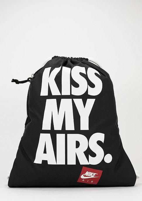NIKE Turnbeutel Heritage Kiss My Airs black/white