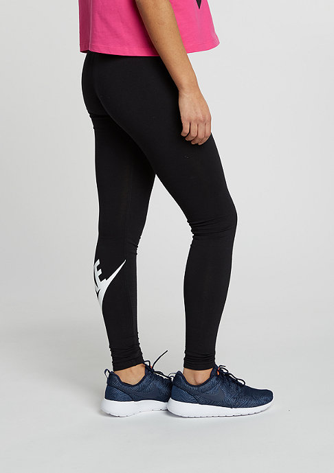 NIKE Leggings Leg-A-See Logo black/white