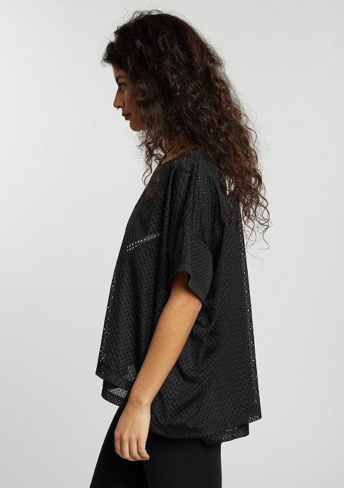 NIKE T-Shirt Mesh Crop black/black/white/white