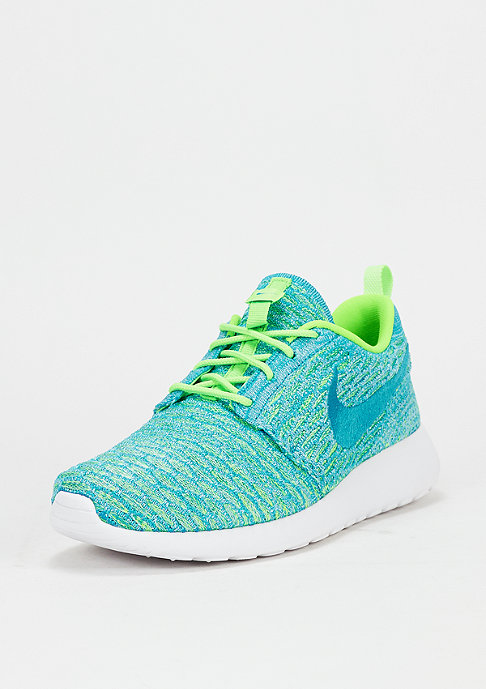 NIKE Schuh Wmns Roshe One Flyknit electric green/blue lagoon/glavier ice
