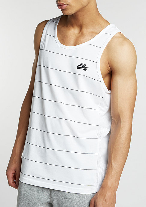 NIKE SB Tanktop Dri-Fit Yarn Dye white/black