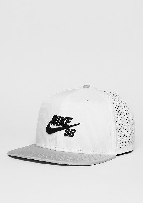 NIKE SB Snapback-Cap Performance white/wolf grey/black