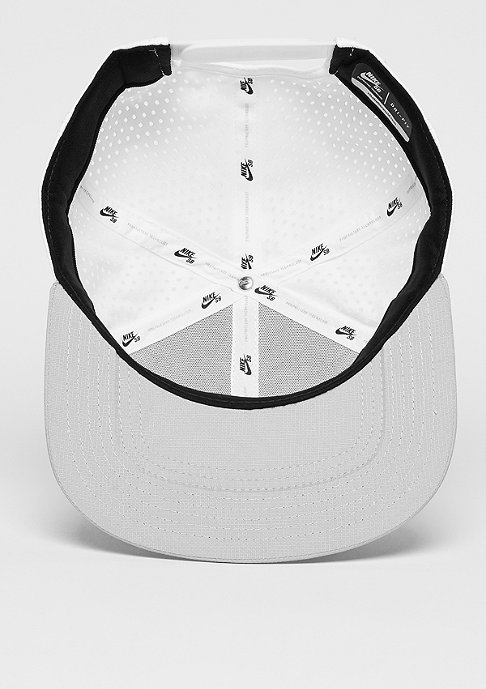 NIKE SB Snapback-Cap Performance white/wolf grey/black