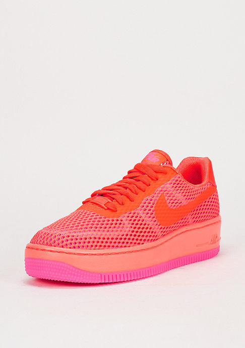 NIKE Schuh Wmns Air Force 1 Low Upstep BR total crimson/pink blast
