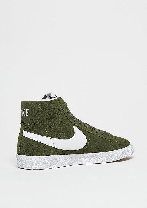 NIKE Schuh Wmns Blazer Mid Suede urban haze/white/gum lt brown