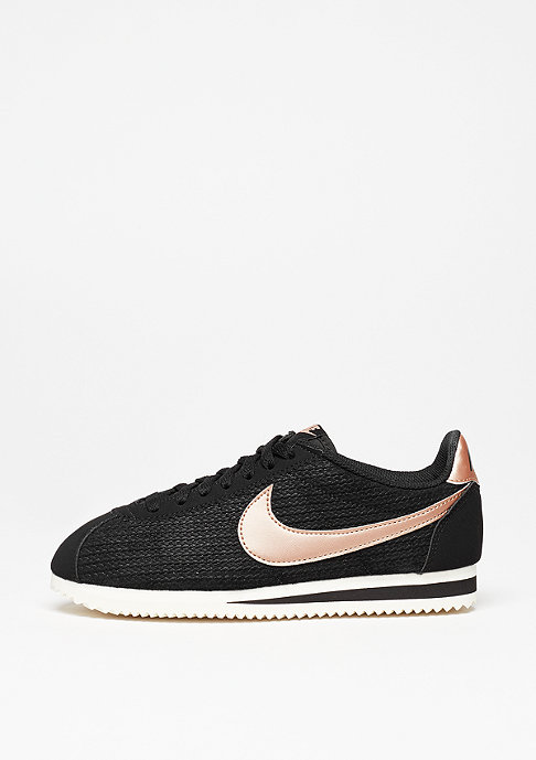 NIKE Laufschuh Wmns Classic Cortez Leather Lux black/mtlc red/bronze/sail