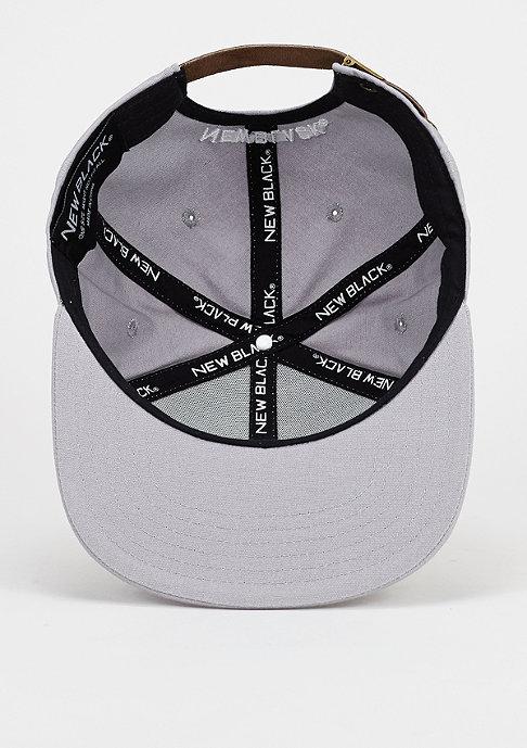 New Black Strapback-Cap N Patch grey