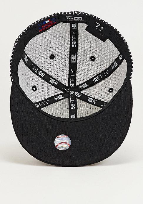 New Era Fitted-Cap Base Mesh MLB Atlanta Braves black/optic white