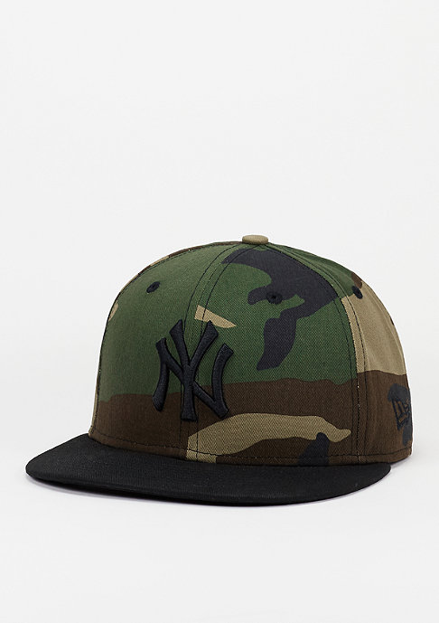 New Era Snapback-Cap Camo Crown 950 MLB New York Yankees USMC woodland camo