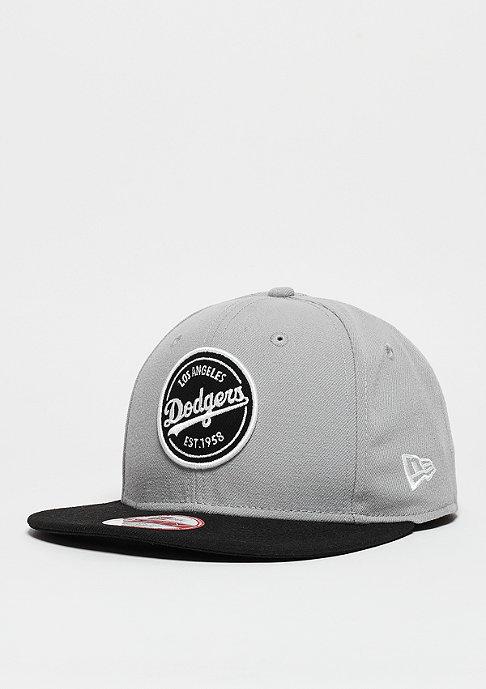 New Era Snapback-Cap Emblem Patch MLB Los Angeles Dodgers grey/black