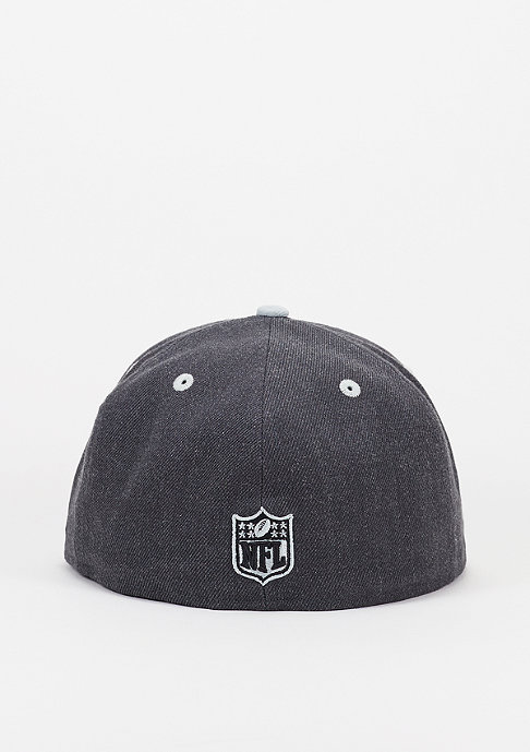 New Era Fitted-Cap Heather Top NFL Oakland Raiders official team colour