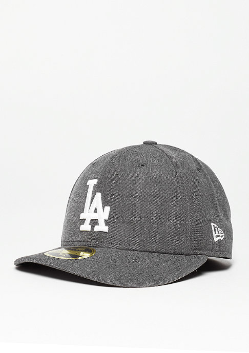New Era Fitted-Cap Low Crown 59Fifty MLB Los Angeles Dodgers heather grey/white
