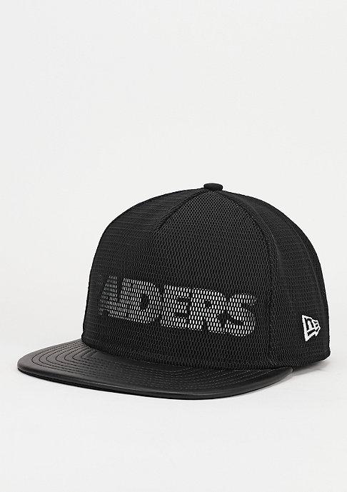New Era Snapback-Cap PU Mesh Overlay NFL Oakland Raiders black