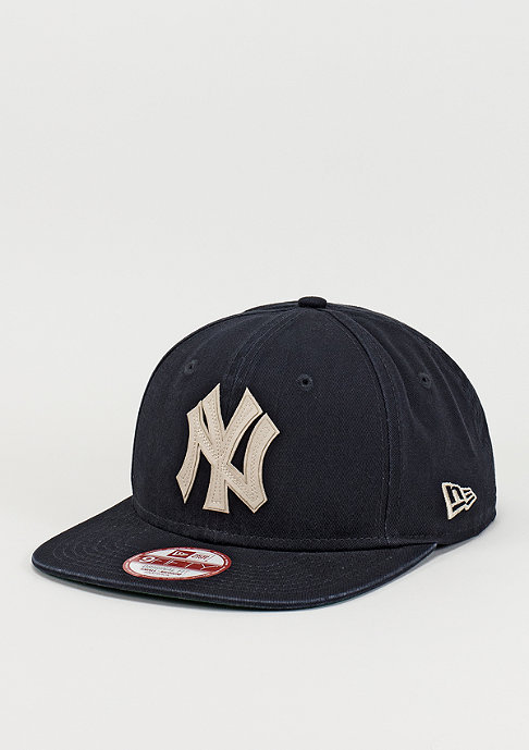 New Era Snapback-Cap Vintage Wash MLB New York Yankees navy/optic white