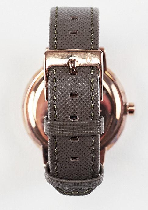 Nixon Uhr Kensington Leather rose gold/taupe