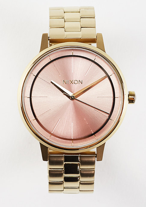 Nixon Uhr Kensington light gold/pink