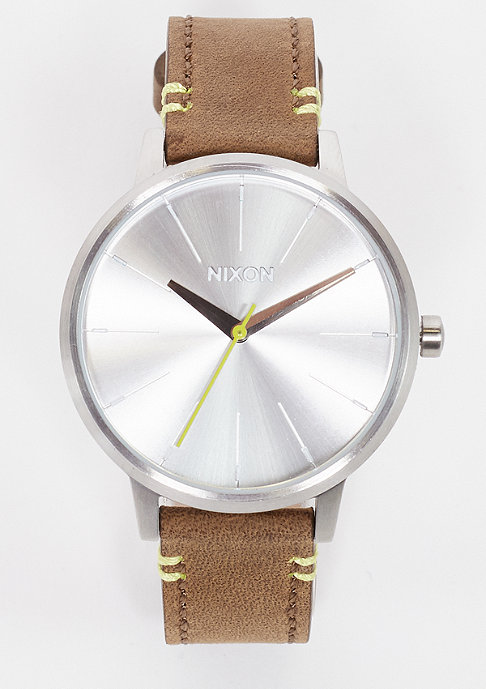 Nixon Uhr Kensington Leather brown/lime