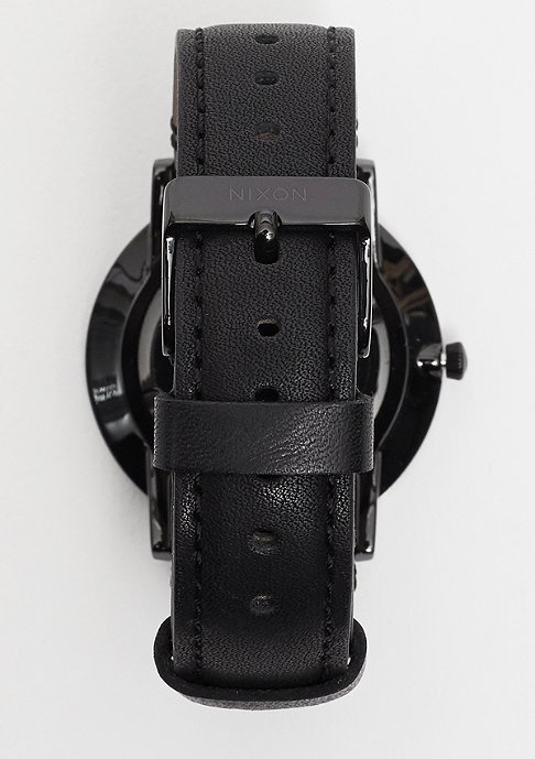 Nixon Uhr Porter Leather all black/gold