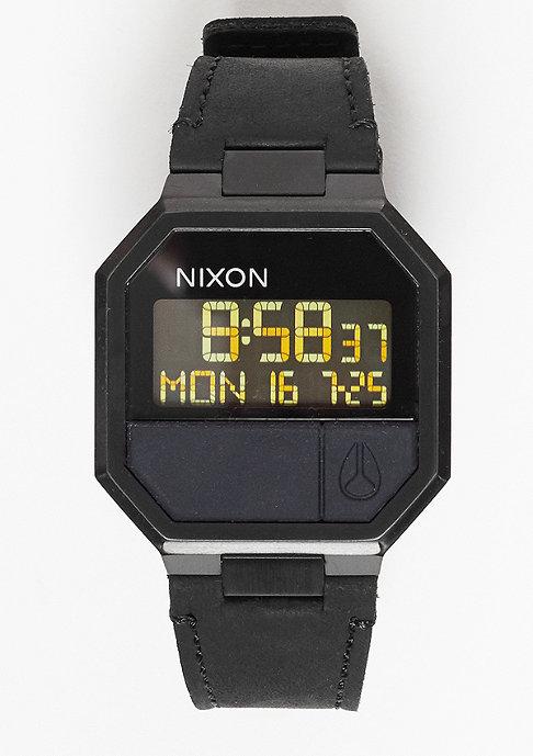 Nixon Uhr Re-Run Leather all black