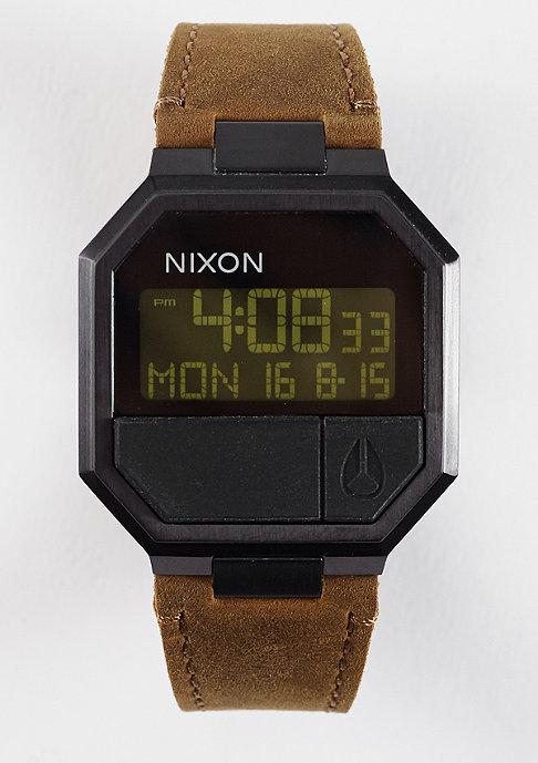 Nixon Uhr Re-Run Leather all black/brown