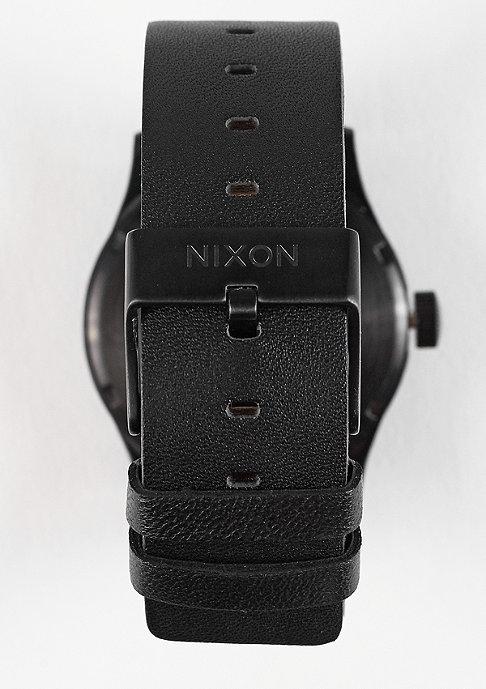 Nixon Uhr Sentry Leather all black