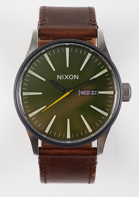 Nixon Uhr Sentry Leather surplus/brown