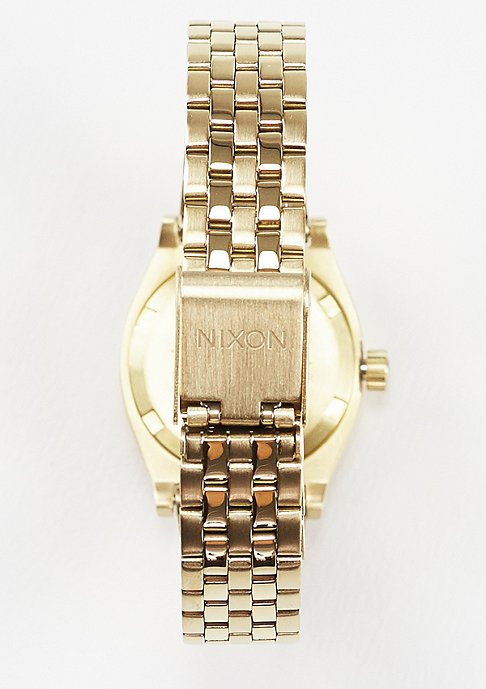 Nixon Uhr Small Time Teller gold/green sunray