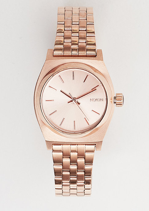 Nixon Uhr Small Time Teller all rose gold