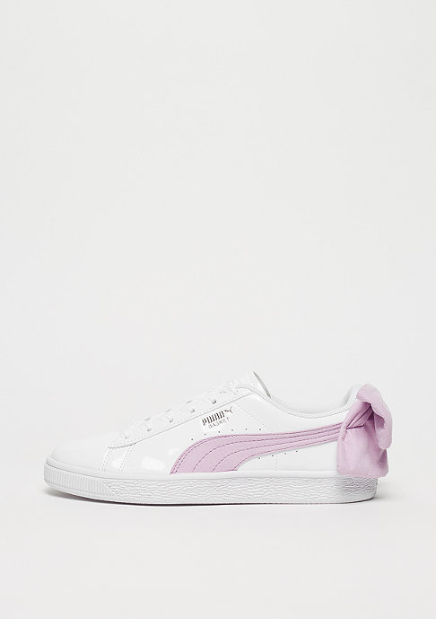 Basket Bow puma white-winsome orchid