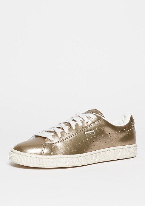 Puma Schuh Basket Classic Metallic silver/gold puma/white/whisper white