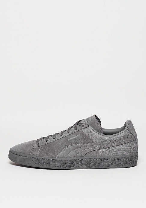 Puma Schuh Suede Classic Casual Emboss steel grey