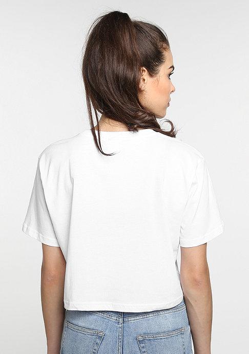 SNIPES T-Shirt Basic Cropped white