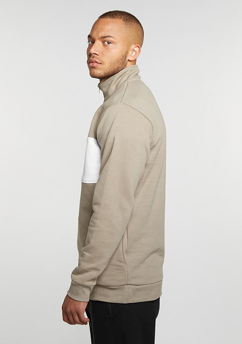SNIPES Sweatshirt Block Troyer lt brown/white