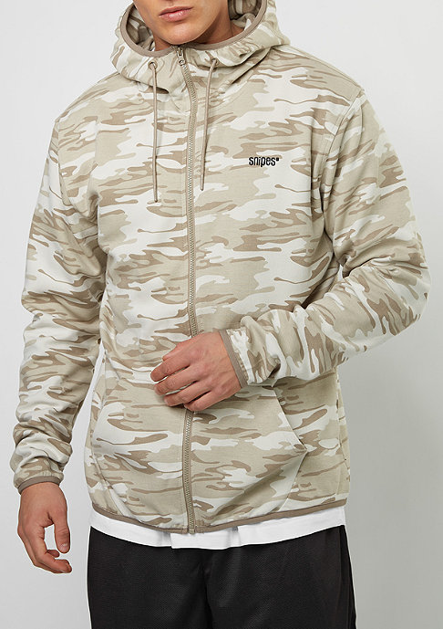 SNIPES Hooded-Zipper D. Camo beige/brown/grey