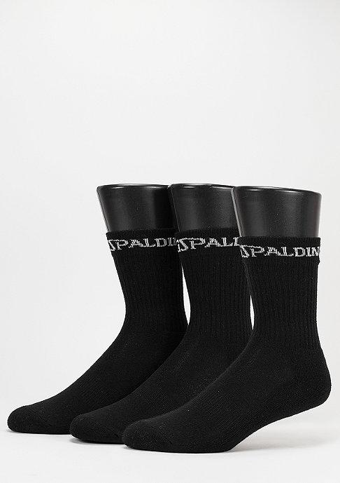 Spalding Sportsocke Mid Cut 3er black