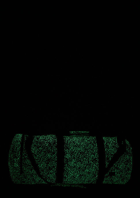 Spiral Sporttasche Duffel glow in the dark speckles