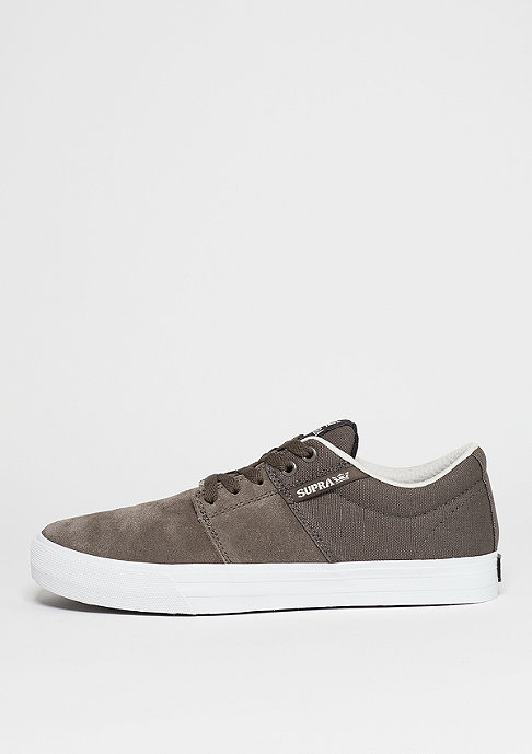 Supra Schuh Stacks Vulc II morel/white