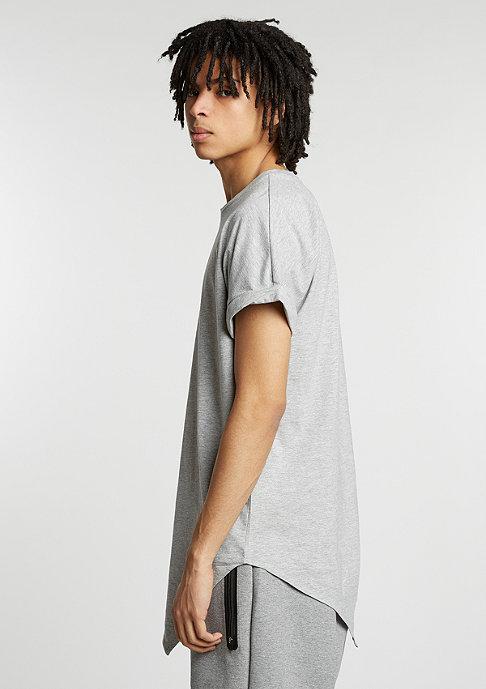Urban Classics T-Shirt Asymetric Long grey