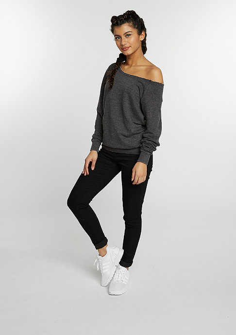 Urban Classics Sweatshirt Burnout Open Edge d.grey