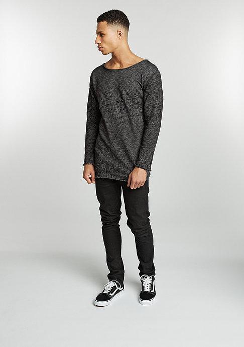 Urban Classics Sweatshirts Fashion Long Terry black melange