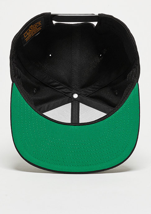 Urban Classics Snapback-Cap Leatherpatch black/black