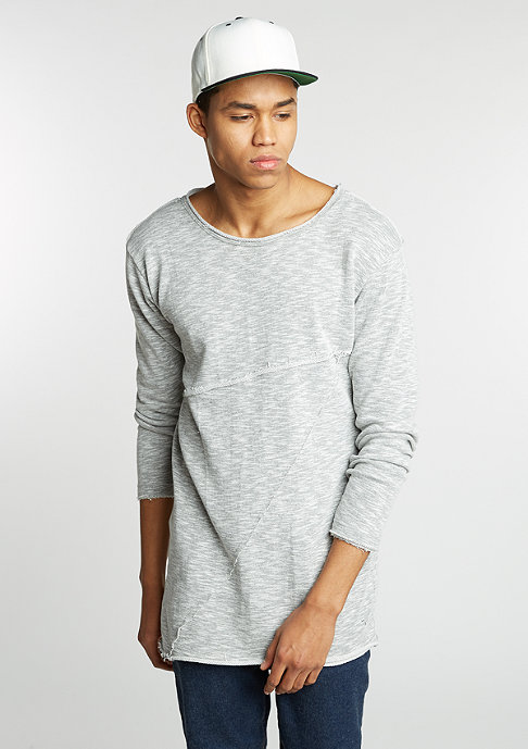 Urban Classics Sweatshirt Fashion Long Terry grey melange