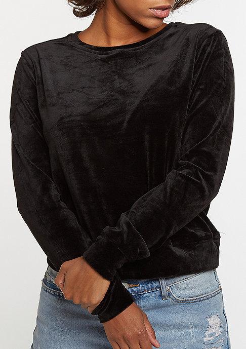 Urban Classics Sweatshirt Short Velvet black